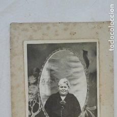 Fotografía antigua: FOTO DE ESTUDIO DE SEÑORA, PRINCIPIOS DE SIGLO. Lote 175986843