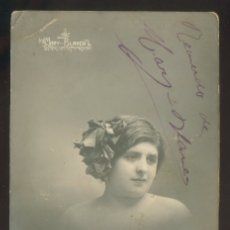 Fotografía antigua: FOTO *J. MARTI, TENERIFE* AUTÓGRAFO *MARY BLANCA* FECHADA BARCELONA 1914.. Lote 176096030