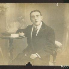 Fotografía antigua: FOTO *B. ROLDÁN, TUDELA* AUTÓGRAFO *DOMINGO MERLERO* FECHADA 1911. TEATRO.. Lote 176104308