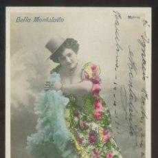 Fotografía antigua: FOTO *MATEOS* AUTÓGRAFO *BELLA MONTALVITO* FECHADA BARCELONA 1911.. Lote 176269110