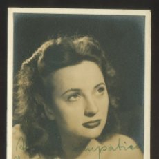 Fotografía antigua: AUTÓGRAFO *MARLY SOUKUP* FOTO *ESTUDIO CAMPÚA, MADRID* FECHADA BARCELONA 1946.. Lote 176277129