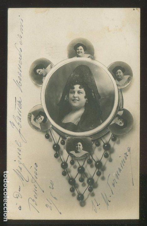 FOTO ANÓNIMA. AUTÓGRAFO *MATILDE TORNAMIRA* FECHADA 1920. (Fotografía Antigua - Tarjeta Postal)