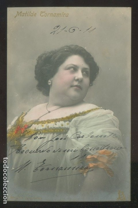 FOTO *INDUSTRIA FOTOGRÁFICA - LLUIS BARTRINA* AUTÓGRAFO *MATILDE TORNAMIRA* FECHADA 1911. (Fotografía Antigua - Tarjeta Postal)