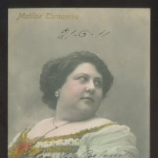 Fotografía antigua: FOTO *INDUSTRIA FOTOGRÁFICA - LLUIS BARTRINA* AUTÓGRAFO *MATILDE TORNAMIRA* FECHADA 1911.. Lote 176284173