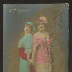 Fotografía antigua: FOTÓGRAFO SIN DESCIFRAR. AUTÓGRAFO *HERMANAS TABERNER* FECHADA 1914.. Lote 176284485