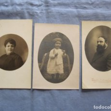 Fotografía antigua: LOTE TRES FOTOGRAFIAS VARIAS, UNA DE ELLAS EN CARTÓN DE MEDIADOS SIGLO XX. Lote 176739614