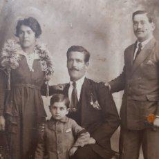 Fotografía antigua: FOTOGRAFÍA POSTAL DE ESTUDIO SELLADA DERREY 1921. Lote 177198578