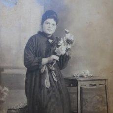 Fotografía antigua: FOTOGRAFÍA POSTAL DE ESTUDIO SELLADA SORIANO ,CABAÑAL. Lote 177198809