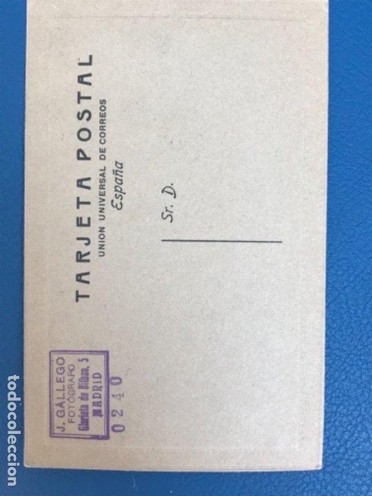 Fotografía antigua: Antigua foto mujer años 20 flores carton marco postal gris j gallego foto preciosa - Foto 3 - 177216772