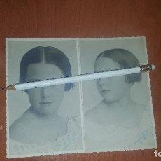 Fotografía antigua: ANTIGUAS FOTOGRAFIAS NIÑA, FOTOGRAFIA BLANKO DE SORIA, 14 X 9 CM.. Lote 177334323