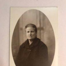 Fotografía antigua: ALCIRA (VALENCIA) RETRATO: FOTO ESTUDIO JUAN ORTEGA. SEÑORA RETRATADA... (A.1934). Lote 177522273