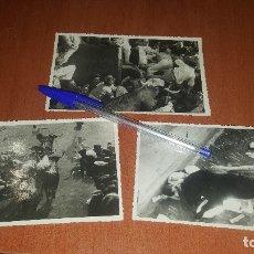Fotografía antigua: SAN FERMIN, 3 FOTOGRAFIAS DE J. GALLE, 14 X 9 CM.. Lote 177650854
