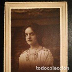Fotografía antigua: RETRATO FEMENINO - TARJETA POSTAL UNIÓN POSTAL UNIVERSAL F.F.S.XIX Ó P.P.S.XX. Lote 177690687