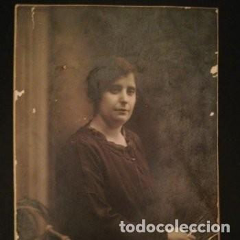 FOTOGRAFÍA TARJETA POSTAL RETRATO FEMENINO 1922 - CHINCHILLA - FOTÓGRAFO - TARRAGONA (Fotografía Antigua - Tarjeta Postal)