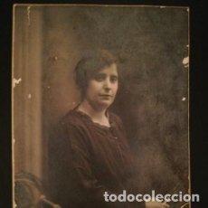 Fotografía antigua: FOTOGRAFÍA TARJETA POSTAL RETRATO FEMENINO 1922 - CHINCHILLA - FOTÓGRAFO - TARRAGONA. Lote 177690709
