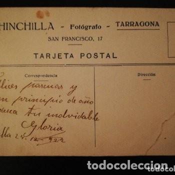 Fotografía antigua: Fotografía TARJETA POSTAL Retrato Femenino 1922 - Chinchilla - Fotógrafo - Tarragona - Foto 2 - 177690709