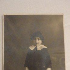 Fotografía antigua: ANTIGUA FOTOGRAFIA.NIÑO JESUS CABELLOS.GABELLAS? FOTO ZARACUETA E HIJOS.PAMPLONA 1920. Lote 177754218
