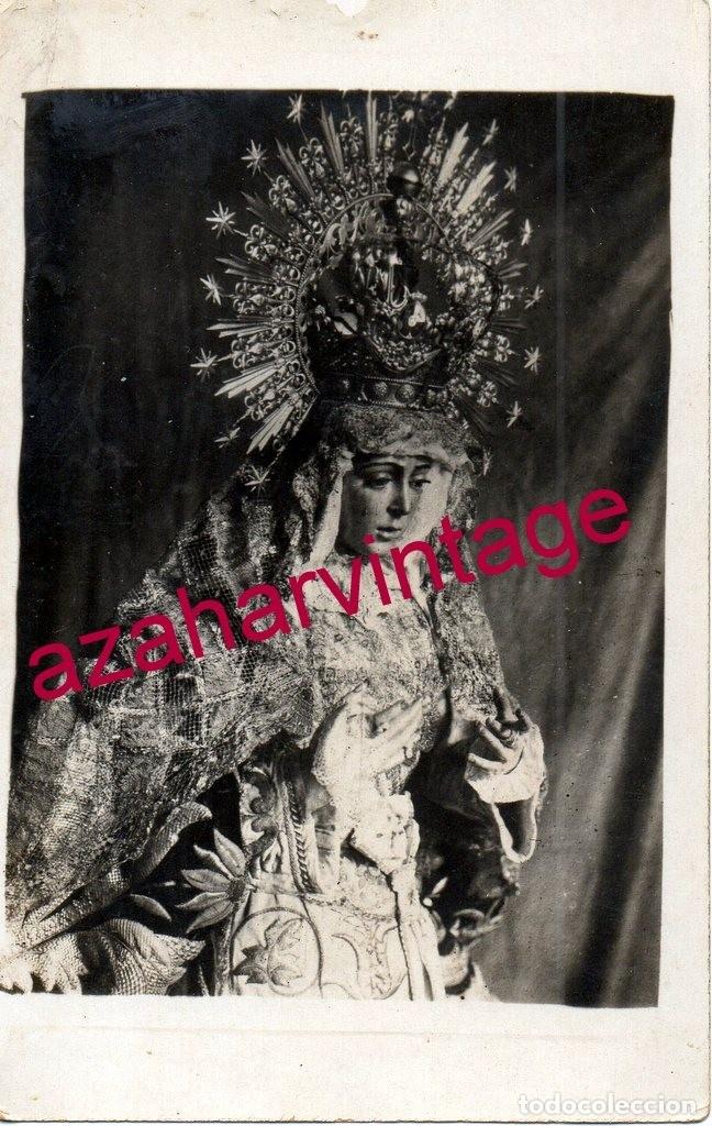 SEMANA SANTA SEVILLA, RARA POSTAL FOTOGRAFICA DE LA ESPERANZA MACARENA (Fotografía Antigua - Tarjeta Postal)
