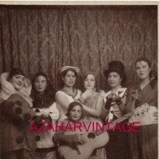 Fotografia antica: SEVILLA, AÑOS 20, CHICAS DISFRAZADAS, CARNAVAL, GUITARRA. Lote 178023698