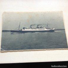 Fotografía antigua: TAJETA EXPOSICIÓN GENERAL ESPAÑOLA SEVILLA BARCELONA 1929 - BARCO TRASATLANTICO LLOYD SABAUDO. Lote 178024447