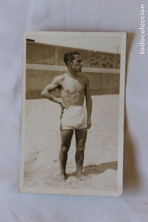 FOTOGRAFIA EROTICA, JOVEN EN BAÑADOR, AÑOS 20 (Fotografía Antigua - Tarjeta Postal)