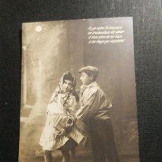 Fotografía antigua: TARJETA POSTAL NIÑOS POSANDO. Lote 178159713