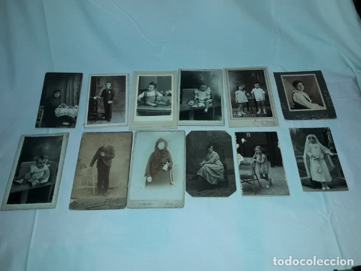 MAGNIFICO LOTE DE 12 ANTIGUAS FOTOGRAFÍAS Y TARJETAS POSTALES (Fotografía Antigua - Tarjeta Postal)
