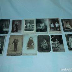 Fotografía antigua: MAGNIFICO LOTE DE 12 ANTIGUAS FOTOGRAFÍAS Y TARJETAS POSTALES. Lote 178318348