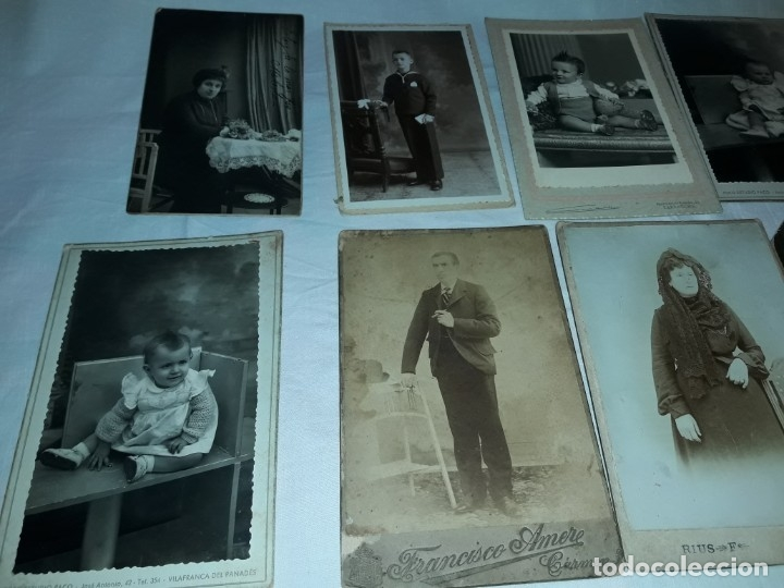 Fotografía antigua: Magnifico lote de 12 antiguas fotografías y Tarjetas Postales - Foto 2 - 178318348