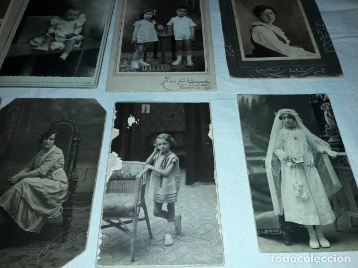 Fotografía antigua: Magnifico lote de 12 antiguas fotografías y Tarjetas Postales - Foto 4 - 178318348