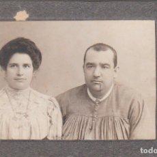 Fotografía antigua: ORAW-RAFF, VALENCIA MAGNÍFICA FOTO TARJETA POSTAL. RETRATO DE PAREJA FARVARO HERMANOS 10-20S AA. Lote 178342276