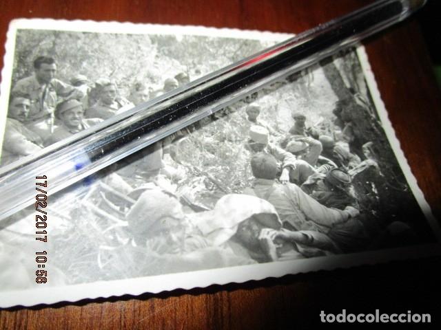 Fotografía antigua: BATALLON LEGION regulares DESCASO ANTES DE OPERACIONES BATALLA DEL EBRO PLENA GUERRA CIVIL I-1939 - Foto 4 - 249597985