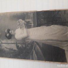 Fotografía antigua: FOTOGRAFÍA NOVIA. Lote 179397251