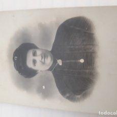 Fotografía antigua: FOTOGRAFIA SEÑORA. Lote 179397328