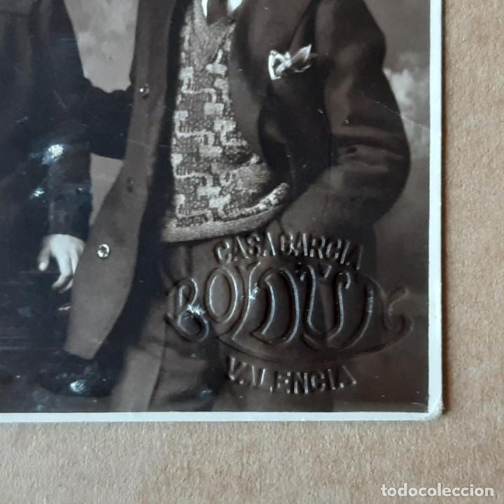 Fotografía antigua: ANTIGUA FOTOGRAFÍA TARJETA POSTAL GRUPO FAMILIA. CASA GARCÍA BOLDÚN. VALENCIA. AÑOS 20? - Foto 2 - 180027770