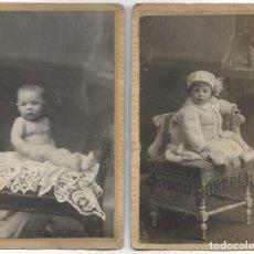 Fotografía antigua: LOTE 2 ANTIGUAS FOTOGRAFÍAS DE BEBÉ - FOTOGRAFO DE J. GROLLO - VALENCIA. Lote 180110310