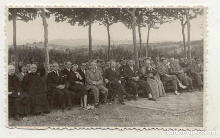 FOTOGRAFIA 1949 COLOCACION 1ª PIEDRA SANATORIO SAN JUAN DE DIOS SAN SEBASTIAN (Fotografía Antigua - Tarjeta Postal)