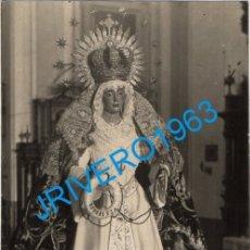 Fotografía antigua: SEMANA SANTA DE SEVILLA, ANTIQUISIMA POSTAL FOTOGRAFICA DE LA ESPERANZA DE TRIANA,FOT.SERRANO. Lote 180411736