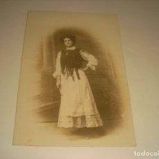 Fotografía antigua: ANTIGUA FOTO DE SEÑORA.. Lote 182263435