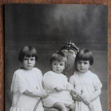 Fotografía antigua: FOTOGRAFIA NIÑAS - A. BARO- RAMBLA DE ESTUDIOS 9 - DE BARCELONA. Lote 182584832