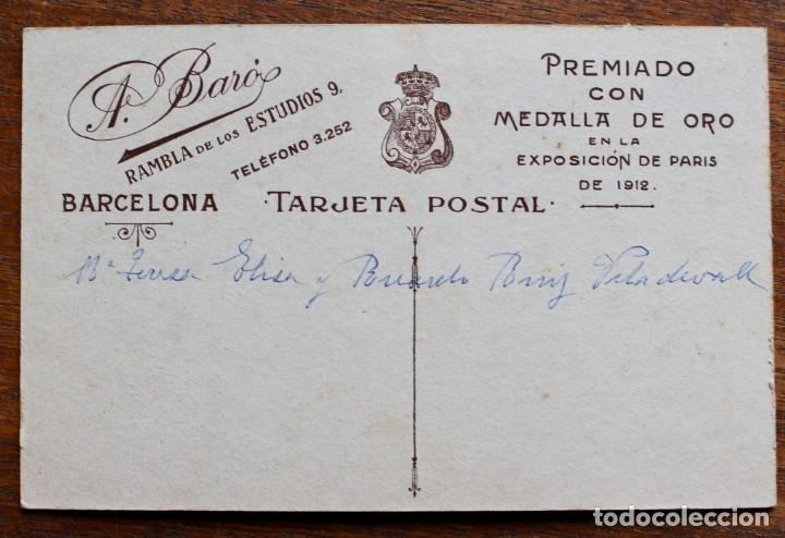 Fotografía antigua: FOTOGRAFIA NIÑAS - A. BARO- RAMBLA DE ESTUDIOS 9 - DE BARCELONA - Foto 2 - 182584832