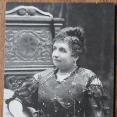 Fotografía antigua: ANTIGUA TARJETA POSTAL - DAMA-S XIX - A.F. NAPOLEON. BARCELONA. 14,4 X 9 CM. Lote 182586796