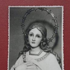 Fotografía antigua: TARJETA FOTOGRAFICA RELIGIOSA. INMACULADA DEL SEMINARIO. Lote 182886672