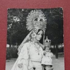Fotografía antigua: TARJETA FOTOGRAFICA RELIGIOSA. NUESTRA SEÑORA DE LORETO. PATRONA DE SOCUELLAMOS CIUDAD REAL. Lote 182886980