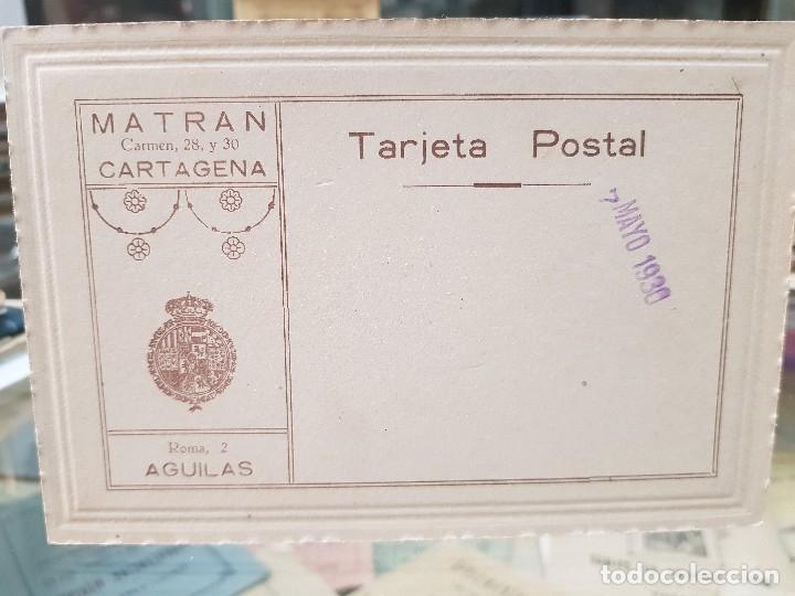 Fotografía antigua: ANTIGUA FOTOGRAFIA RELIGIOSA COLOREADA MATRAN CARTAGENA AGUILAS MURCIA 1930 - Foto 2 - 182953588