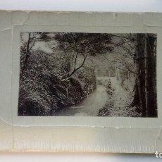 Fotografía antigua: FOTOGRAFIA ANTIGUA PAISAJE CON UN RIO IMPRIMIDA EN ALEMANIA 1910 CIRCULADA . Lote 182985382
