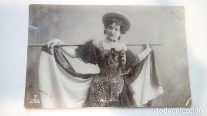 FOTOGRAFIA ANTIGUA MELITA IRIS UNION POSTALE UNIVERSALLE ESPAÑA 1911 CIRCULADA (Fotografía Antigua - Tarjeta Postal)