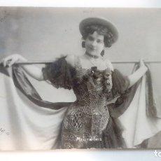 Fotografía antigua: FOTOGRAFIA ANTIGUA MELITA IRIS UNION POSTALE UNIVERSALLE ESPAÑA 1911 CIRCULADA. Lote 182985498