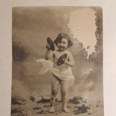 Fotografía antigua: RETRATO INFANTIL POSTAL FOTOGRAFICA 1914. Lote 183670143