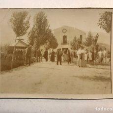 Fotografía antigua: LA VALENCIA QUE FUE.. ALBUMINA FOTOGRAFÍA, DE CELEBRACIÓN FAMILIAR EN LA ALQUERIA (H.1900?). Lote 184092131